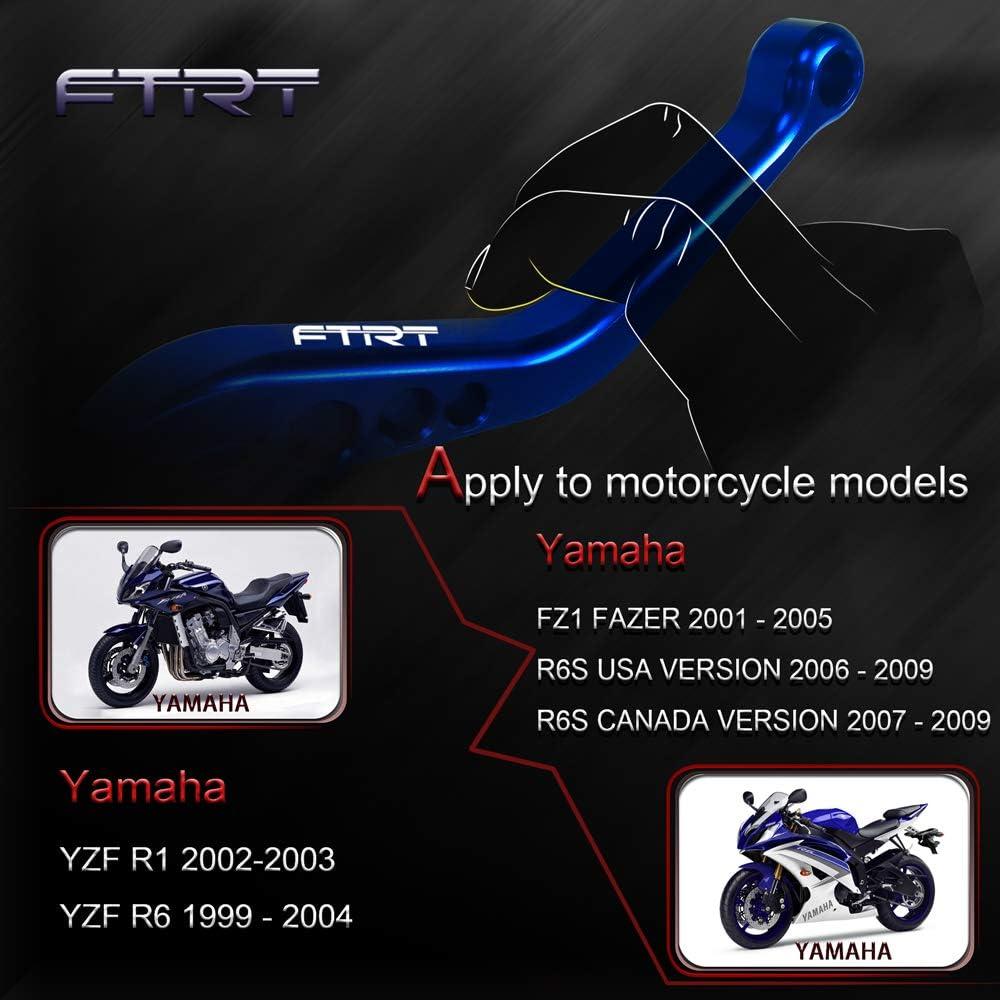 For YAMAHA R6 1999-2004 Short CNC Clutch Brake Levers Blue Adjustable 2002 2003