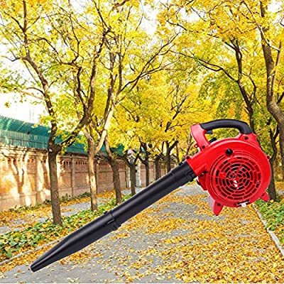 PanelTech Gas Powered Leaf Blower and Vacuum Handheld 26cc 2 Cycle Engine 7500 RPM Garden Yard Lightweight Sweeper with 5 Black Tubes