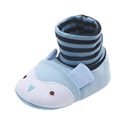 Baby Boots, Hatop Newborn Toddler First Walkers Baby Round Toe Flats Soft Slippers Shoes