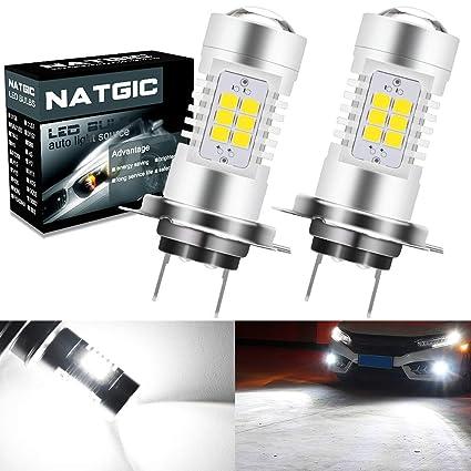 NATGIC H7 Bombillas antiniebla led Xenon blanco 2835 Conjuntos de ...
