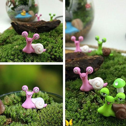 KWOSJYAL 6Pcs / Set Miniatura Caracol Figurita Decoración Hada Jardín Adorno De Casa De Muñecas Color Aleatorio Jardín Paisajismo Estatuilla: Amazon.es: Jardín