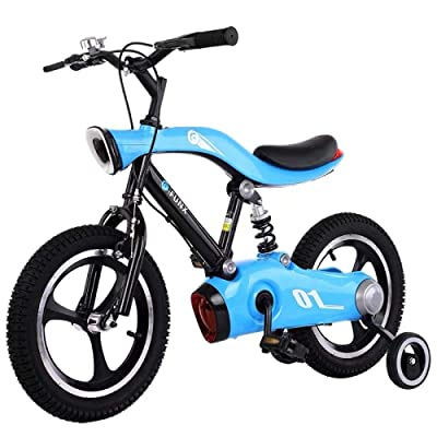 LINGS Foldable Bicycle Kids' Bikes Boy Girl Child Bike 3-10 Years Old Baby Stroller Baby 12 inch Inflatable Plastic Wheel with Light: Home & Kitchen