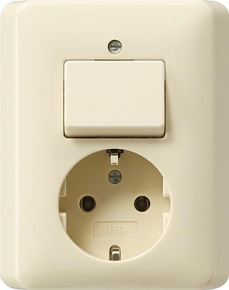 Import Allemagne Gira 017601 Prise avec interrupteur Blanc cr/ème