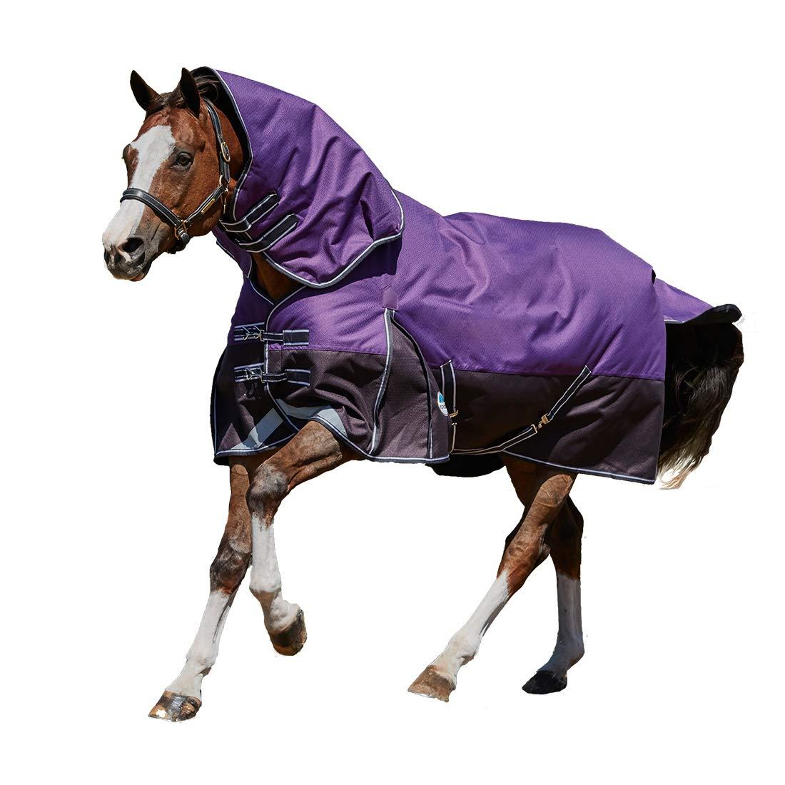 Weatherbeeta Comfitec Plus Dynamic Detach-A-Neck Medium Purple/Black 78''