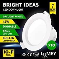 LUMEY 10 Pack LED Downlight Kit Daylight White Dimmable Bulb for Indoor Outdoor