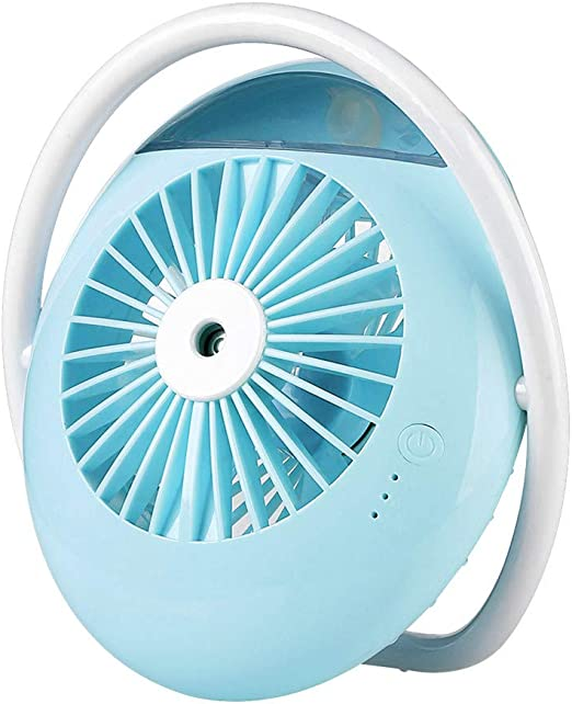 White USB Misting Fan Personal Portable Desk Electric Fan Preventing from Heat Stroke Rechargeable Batter Operated Electric Fan for Home and Office Libison Mini Handheld Fan