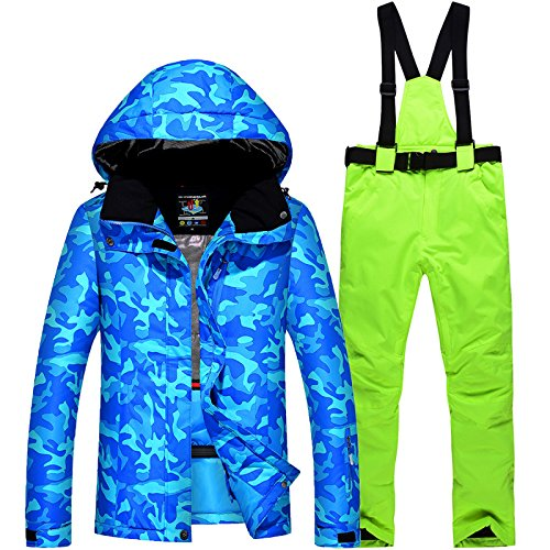 Warm Coat Suit Women Jacket XL FYM Waterproof Ski Couple JACKETS DYF Thickened Men Green Blue cxwAWWZP1q