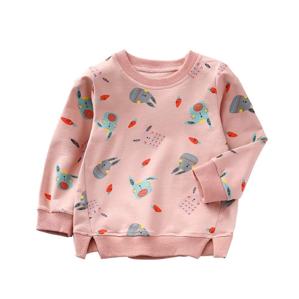 BOBORA Toddler Girls Kids Long Sleeve Sun Rainbow Top Shirt Sweatshirt with Tassels BON-N-2146LT450