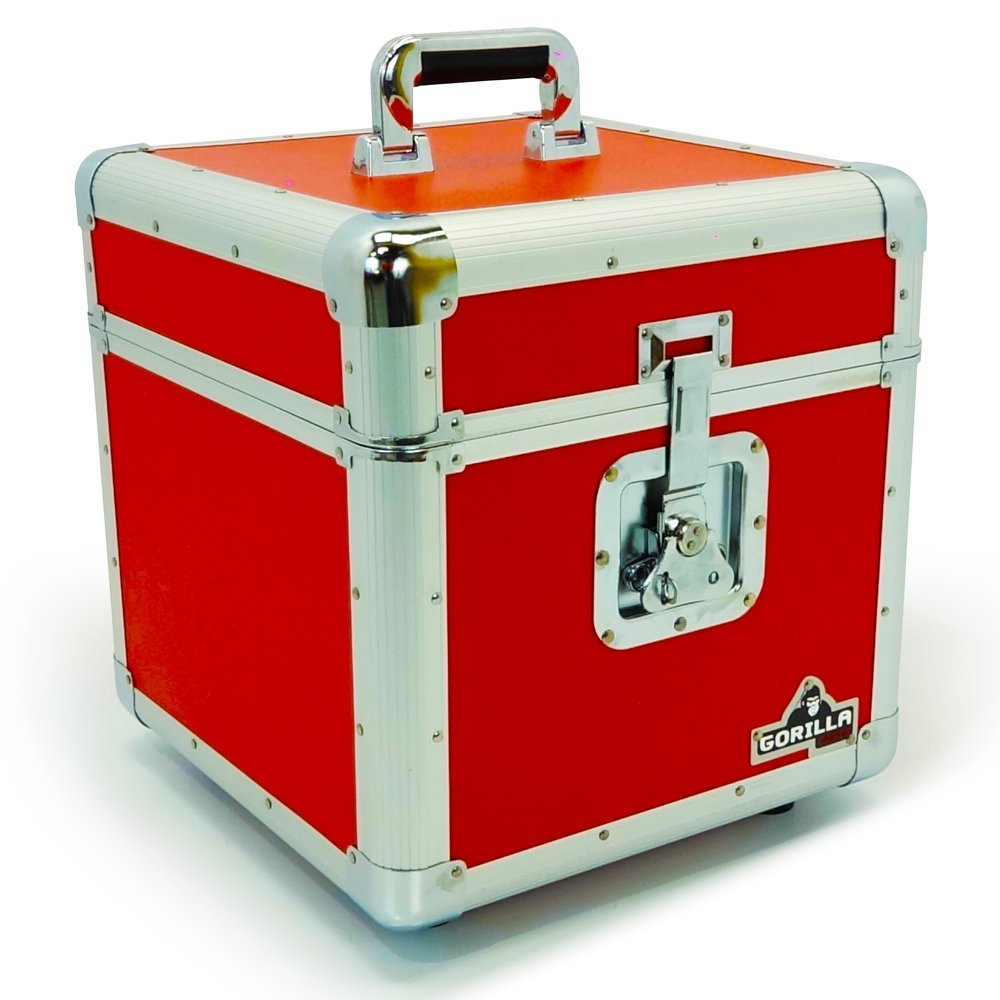 Gorilla 30, 5 cm vinyl LP Storage box Flight case rosso con garanzia a vita Gorilla Cases GC-LP100R