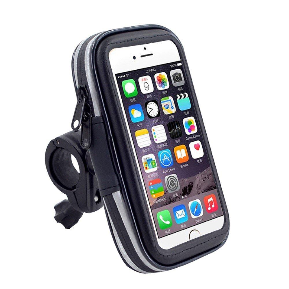 DFV mobile 2017 Support Professionnel R/éflecteur pour le Guidon de Bicyclette et la Moto Imperm/éable Rotative 360 /º pour = HUAWEI P8 LITE DUAL  Noir