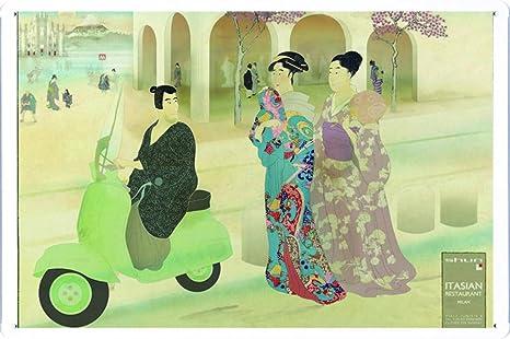 Amazon.com: Vespa Scooter estilo tradicional Japón 7.8