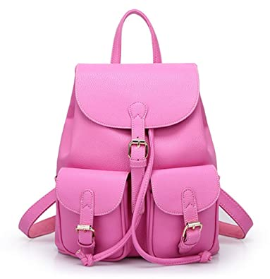 Coofit Women Soft Leather Lovely Backpack Cute Schoolbag Shoulder ...