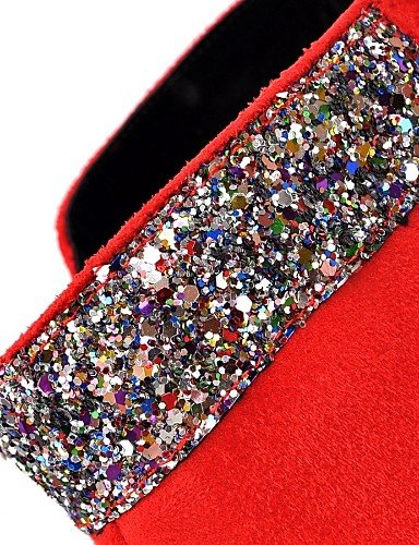 compensé Femme Rond Chaussons pour Talon décontracté Bottes Mode Polaire en à Chaussures Citior Bottes Femme Bout pour red Chaussons 7vwnYBaq