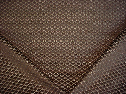 179H17 - Chocolate / Toffee / Caramel Diamond Trellis Designer Upholstery Drapery Fabric - By the Yard
