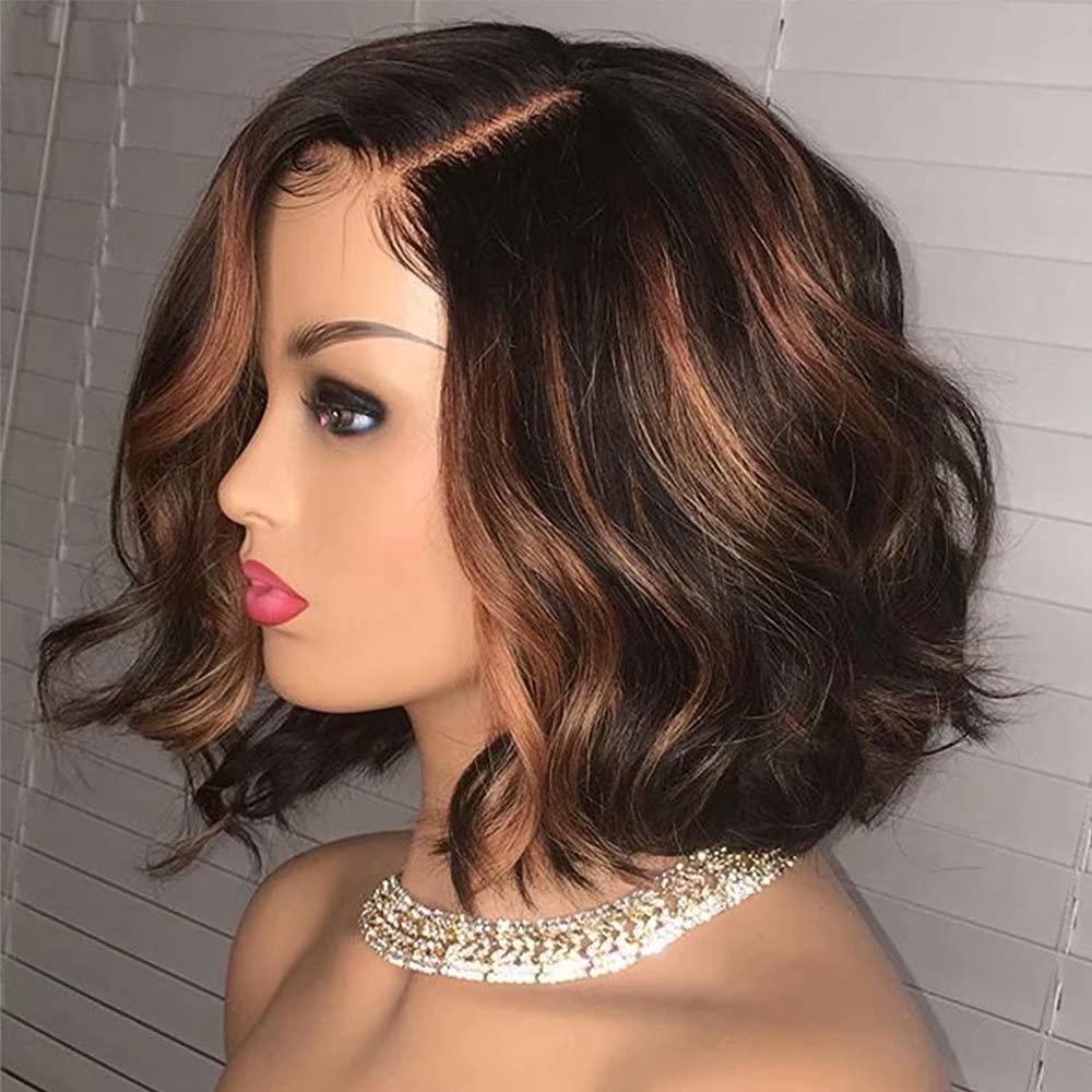 Ten Chopsticks Excellence 1B 30 Ombre Short Human Wavy Front Lace Bob Hair Max 62% OFF