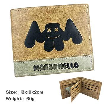 Cartera de Anime SWVV Jojo Bizarre Adventure Men Wallet Short Wallet American Mystery DJ-Marshmallow
