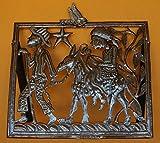 Nativity, Holy Family Flight to Egypt, Standing Haitian Metal Art Sculpture 22″ X 21.5″ Review