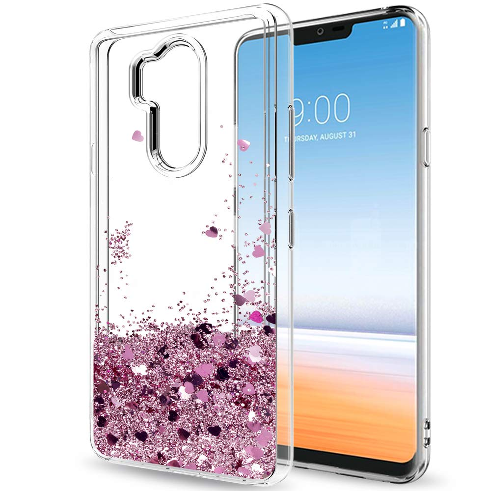 LG G7 Glitter Case, LG G7 ThinQ Case for Girls Women, LeYi Luxury Bling Cute Moving Liquid Quicksand TPU Protective Phone Case Cover for LG G7 / LG G7 ThinQ (2018 Released) CF Turquoise