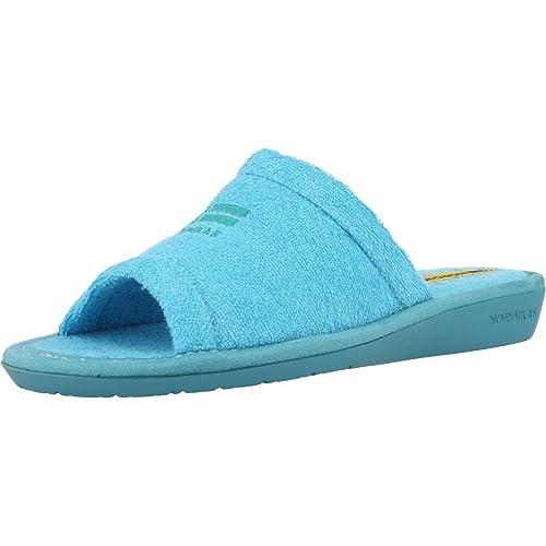 Zapatillas de Estar por casa de Mujer, Color Azul, Marca NORDIKAS, Modelo Zapatillas De Estar por Casa De Mujer NORDIKAS 8040B 4 Azul: Amazon.es: Zapatos y ...