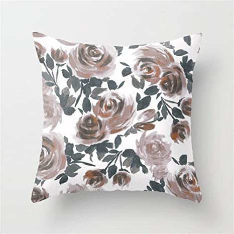 LULABE Floral -1182 Throw Pillow Cushion Cover for Couch ...