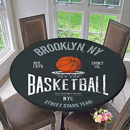 Tablecloths streetbor Urban Sport Team Badge or Sign Logo or Banner of Orange babove Basket with net or Everyday Dinner, Parties 63