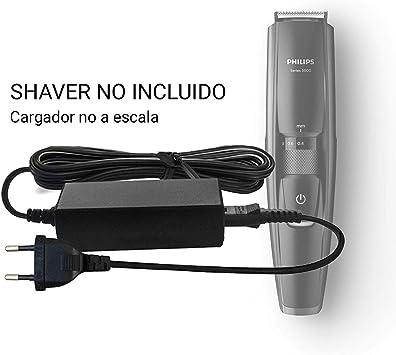 ABC Products Reemplazo Philips 15V Cargador de batería para 3000/5000/7000/ 9000 Norelco QG, BG, HQ, RQ, XL, XLCC, X, HS, QC, QS, PT Serie Afeitadora Maquina cortapelos: Amazon.es: Electrónica