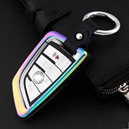 Car Electronics & Accessories Car Electronics Accessories Muti-Color YUWATON Car Key Case Car Key Chains for BMW 5 Series 525li 2 Series 3 Series 320li Car Remote Control Case Key Decoration.