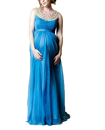 Ri Yun Womens Chiffon Prom Dresses 2018 Maternity Dresses for Baby Shower A Line Pregnancy Dresses