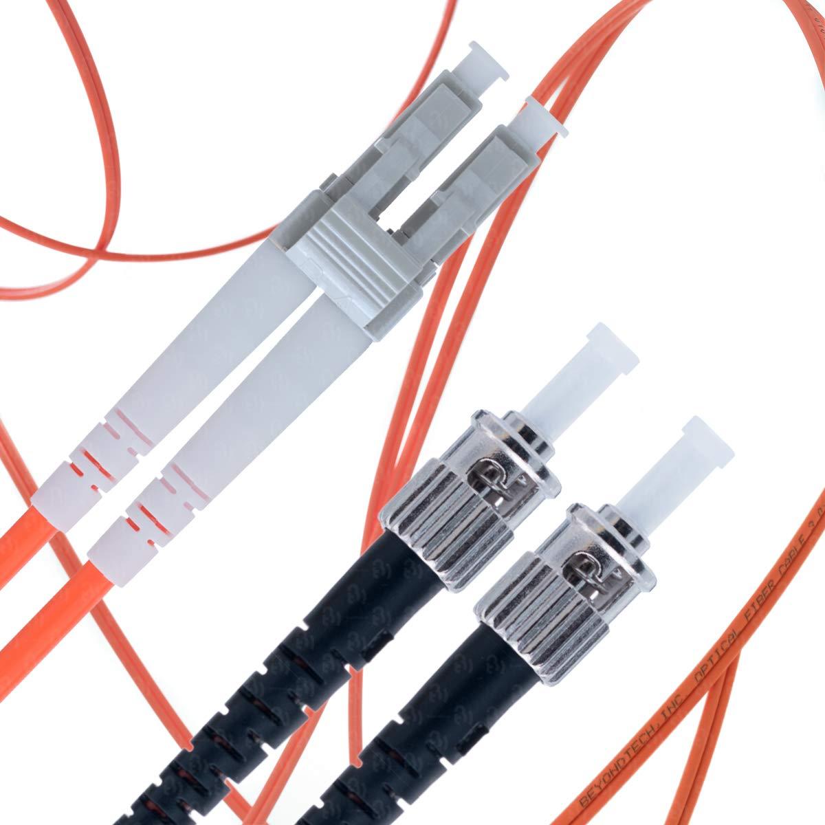 LC to ST Fiber Patch Cable Multimode Duplex - 25m (82ft) - 62.5/125 OM1 - Beyondtech PureOptics Series