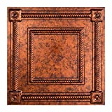 Fasade Easy Installation Coffer Moonstone Copper Lay In Ceiling Tile/Ceiling Panel (2' x 2' Tile)
