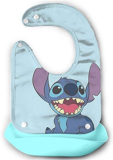 Babero Para Bebé Lilo Y Stitch Impermeable Para Bebés Y Niños Pequeños Con Cuello De Tela De Ajuste Cómodo Azul Cielo Clothing
