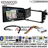 Volunteer Audio Kenwood Excelon DNX694S Double Din Radio Install Kit with GPS Navigation System Android Auto Apple CarPlay Fits 2002-2003 Chevrolet S10, 2001-2002 Chevrolet Express