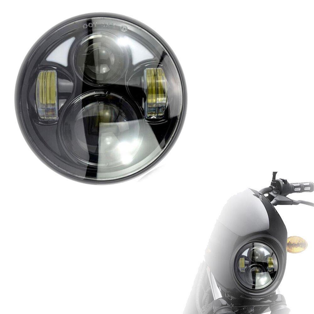 Bestsxma Noir 10 30/V 40/W 14,6/cm haute//basse Faisceau Phare pour Harley Davision Motor Bike Dyna Softail Sportster Super Glide Road King Hl101b 1/PC