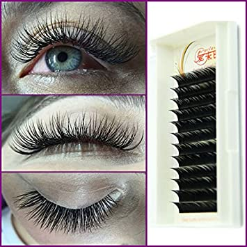 7f7b1dc012f 0.07 D Curl Silk Lashes Black Individual False Eyelash Extension Thick Fake  Eyelash 8Mm To 15Mm
