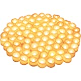 80 Packs LED Flameless Flickering Candles, Kohree Tea Lights Candles Battery Operated Votive Candles, Flickering Tealight Can