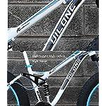 GASLIKE-Mountain-Bike-Fat-Tire-per-Adulti-Telaio-in-Acciaio-ad-Alto-tenore-di-Carbonio-Telaio-a-Doppia-Sospensione-Hardtail-Doppio-Freno-a-Disco-Pneumatico-da-40-Pollici