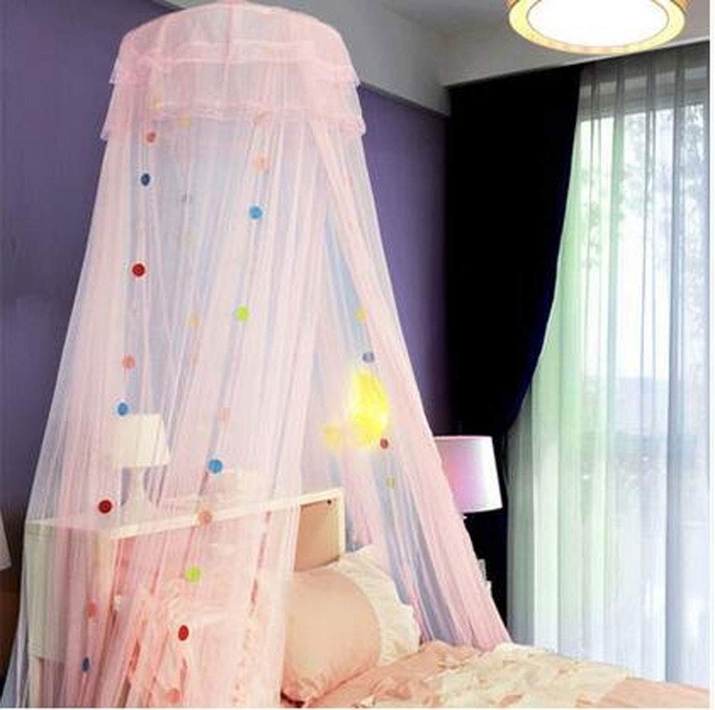 KingKara Teen Bedding Colorful Cartoon/dot Canopy. Loved by Both Adults & Teenagers (Girls/Boys).Fits Queen,Full,& Twin Size Beds (Fits Twin/Queen&Full, Cartoon Blue) KingKara Bed Canopy