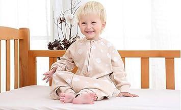 Jingdian fzw Bebé Saco de Dormir Primavera y el otoño de Color algodón bebé piernas separadas Saco de Dormir de algodón Verano Anti-Patada edredón (Tamaño ...