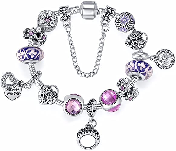 JZHJJ Simple and Stylish Classic Couple Bracelet Jewelry Glass Bead Pendant Beaded Lady Fashion Bracelet Includes:Bracelet,Bracelets Women,Bracelet String,Bracelet Men,Bracelets Couples