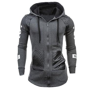 59765e8f3c90 Internet Homme Hiver Cuir Hiver Chaud Sweat Capuche Manteau Veste Pull  Sweatshirt  Amazon.fr  Vêtements et accessoires