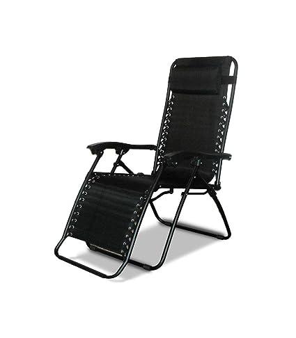 Awe Inspiring Amazon Com Ch Black Zero Gravity Lounge Chair With Pillow Uwap Interior Chair Design Uwaporg