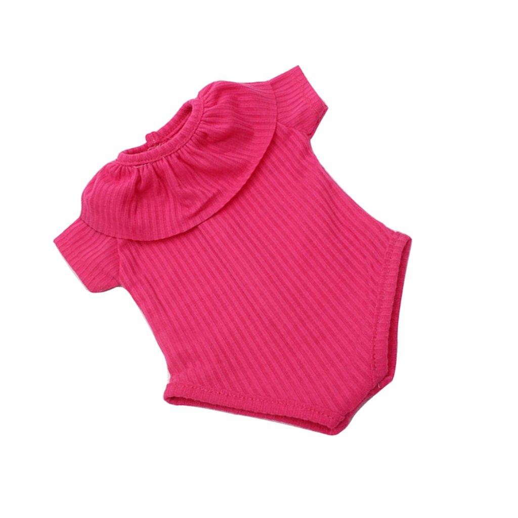 NON Sharplace Traje de Baño de Moda para 18 Pulgadas Americana Muchacha Muñeca - Rosa roja, B non-brand