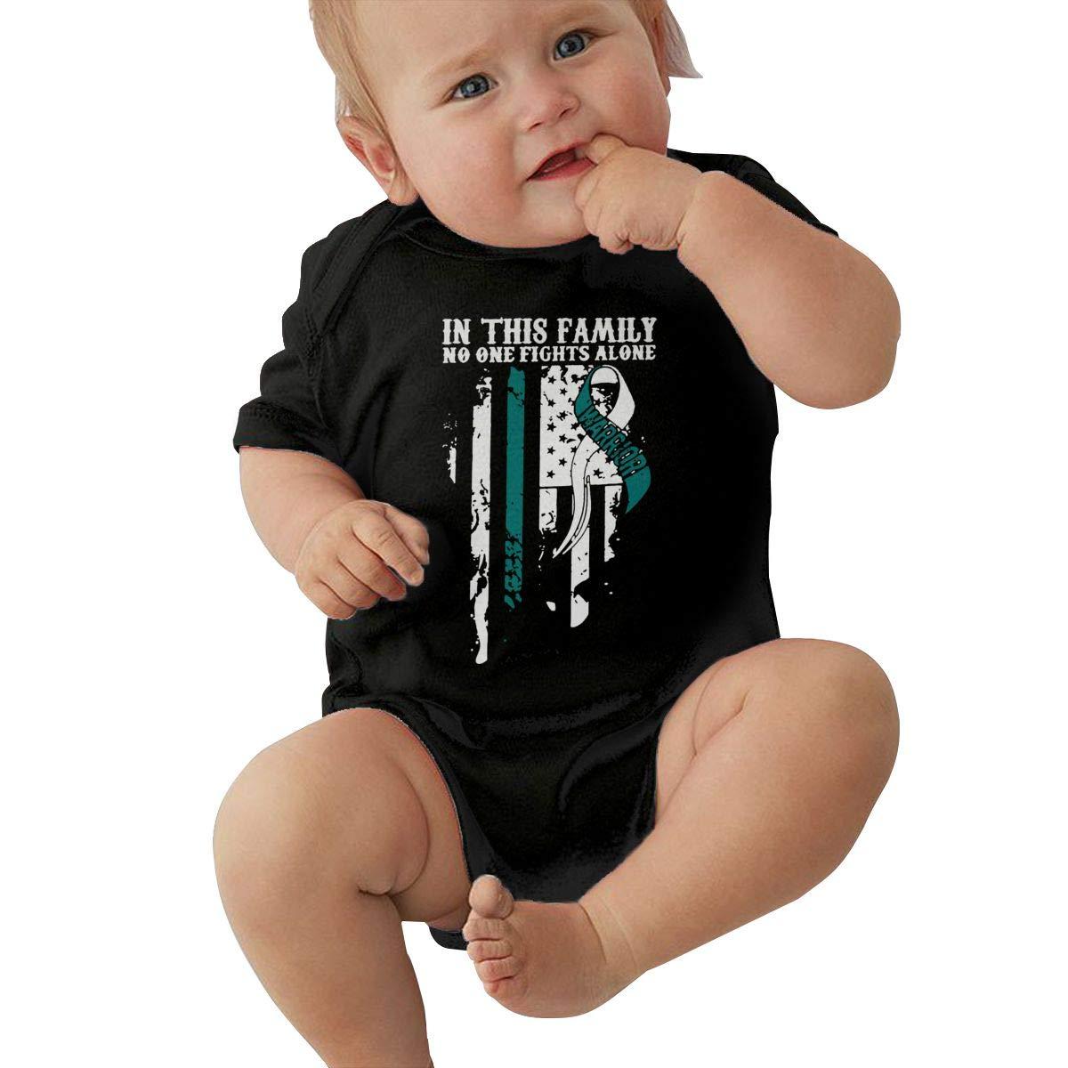 Cervical Cancer Awareness Kawaii Summer Infant Baby Girl Boys Short Sleeve Bodysuit Jumpsuit Outfits Shirt