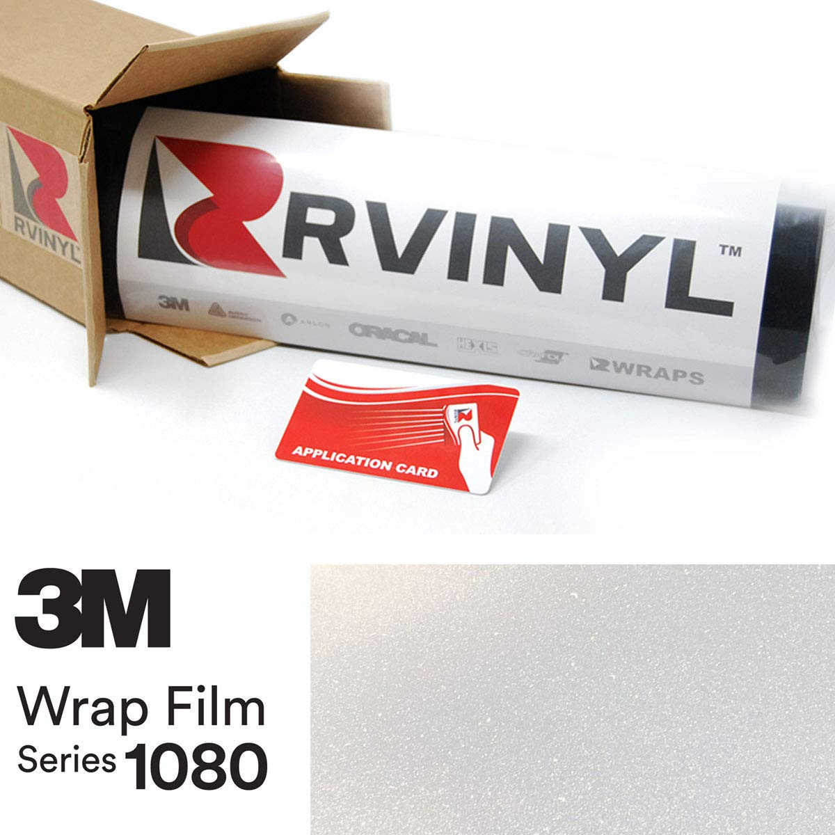 3M 1080 SP240 Satin Frozen Vanilla 5ft x 2ft W/Application Card Vinyl Vehicle Car Wrap Film Sheet Roll
