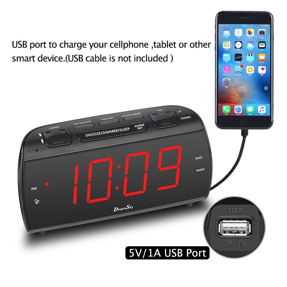 Amazon.com: DreamSky - Radio despertador grande con radio FM ...