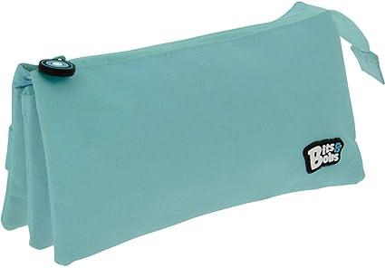 Grafoplás 37545431. Estuche Escolar 3 Compartimentos, Color Azul Claro, 23,5x12x14cm, Bits & Bobs: Amazon.es: Oficina y papelería