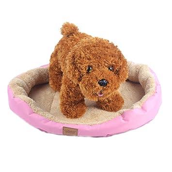Cama redonda impermeable, reversible y cómoda para perros, en colores pastel. Respetuosa con el medioambiente: Amazon.es: Productos para mascotas