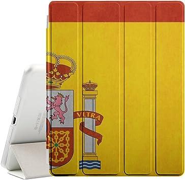 Graphic4You España bandera española Funda Carcasa con Stand Función y Imán Incorporado para el Sueño/Estela para Apple iPad 2 / 3 / 4: Amazon.es: Electrónica