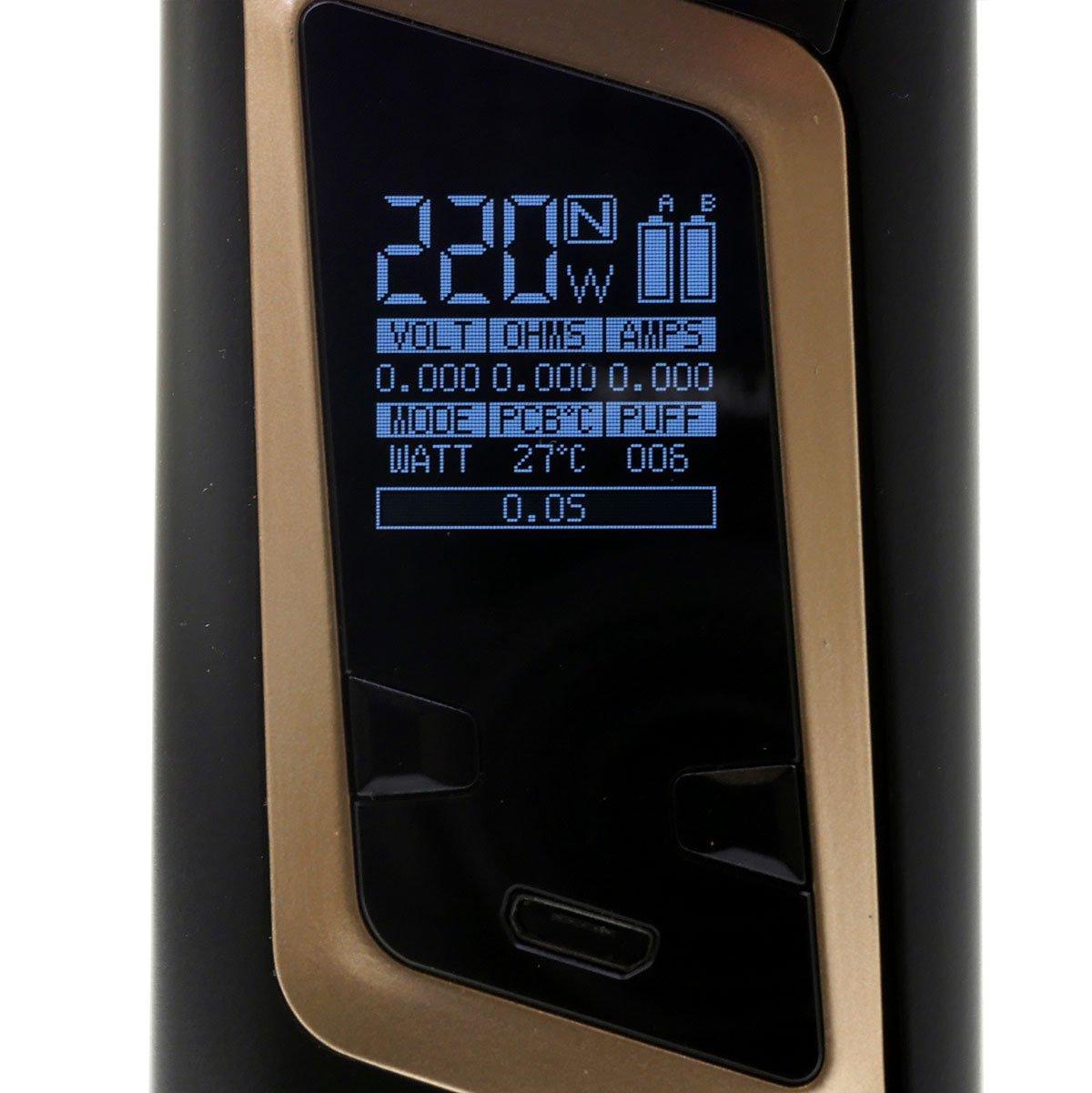 SMOK Alien Box MOD 220W para la celda 2 x 18650 batería, negro y oro - ni nicotina, ni tabaco: Amazon.es: Salud y cuidado personal