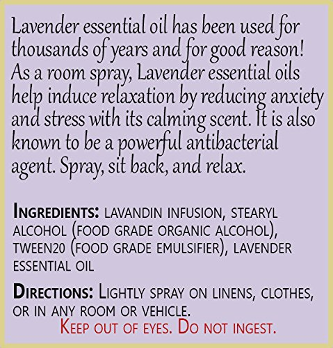 Positive Essence Lavender Linen & Room Spray - Natural Aromatic Mist Made with PURE LAVENDER ESSENTIAL OIL - Relax Your Body & Mind – Refreshing Non-Toxic Air Freshener Odor Eliminator by Positive Essence (Image #5)